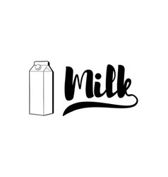 fresh milk packaging container badge or label vector image vector image