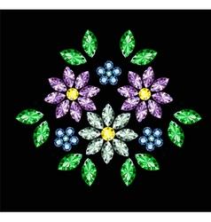 Gem Flowers vector image vector image