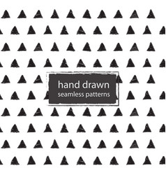 hand drawn marker and ink seamless patterns vector image