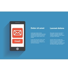 Hand touching smart phone with Email symbol on the vector image
