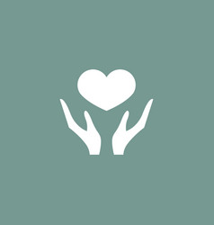 heart icon simple vector image vector image