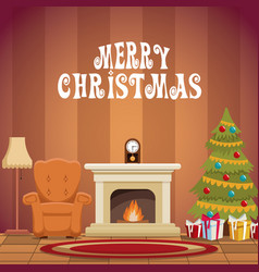 House with christmas decoration vector