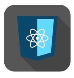 Icon blue web shield js framework - vector