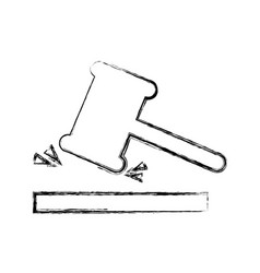 justice gavel isolated icon vector image vector image