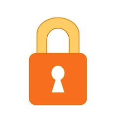 Lock symbol icon on white vector