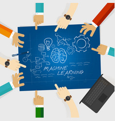machine learning computer science education study vector image