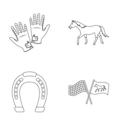 Race track horse animal hippodrome and horse vector
