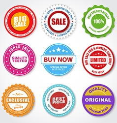 Set of stickers tags stamps for sale vector