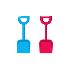shovel icon fat cartoon small gardening vector image