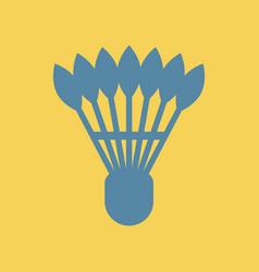 Shuttlecock badminton vector