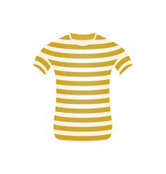 striped t-shirt in brown and white design vector image
