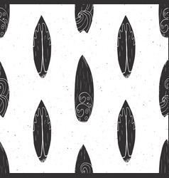 Surf boards seamless pattern hand drawn sketch vector