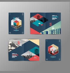 template design layoutbrochure design vector image vector image