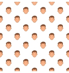 Male face with haircut pattern cartoon style vector