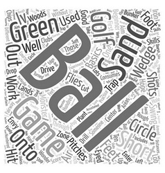 Golf beginner basics iv word cloud concept vector
