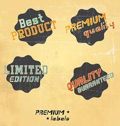 Black retro labels vector