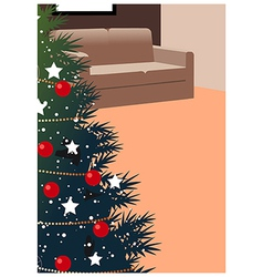 Christmas home background vector