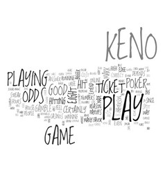 Is keno a good gamble text background word cloud vector