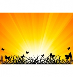 vector background with butterfly vector image