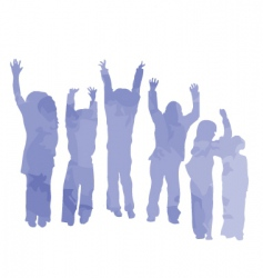 kids made from clouds vector image