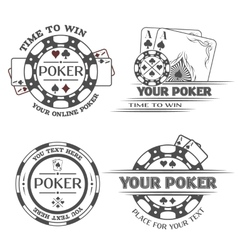 Set poker emblems vector