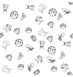 Hand drawn fashion pattern vector