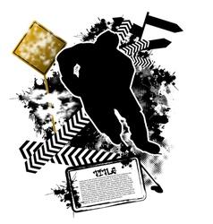 hockey grunge vector image