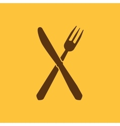 The knife and fork icon vector