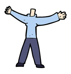 Comic cartoon headless body mix and match comic vector