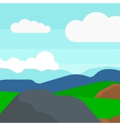 Background of hilly countryside vector image