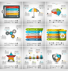 9 in 1 Infographic Bundle vector image vector image