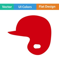 Baseball helmet icon vector