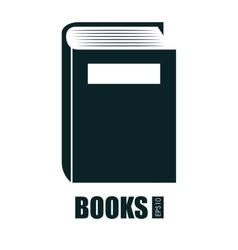 Books isolated design vector