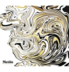 Black white and golden glitter marble style vector