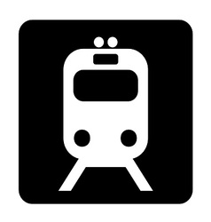Train sign vector