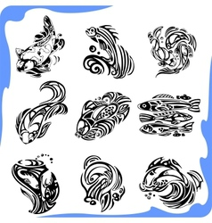Abstract Fish - set vector image vector image