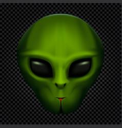 Alien in transparent dark vector