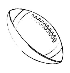 American football sport ball image sketch vector
