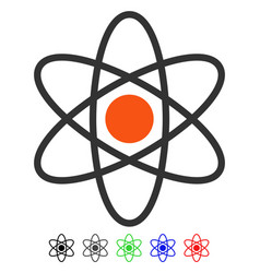 Atom flat icon vector