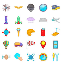 Balloonist icons set cartoon style vector