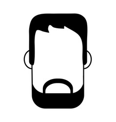 Bearded man avatar icon image vector
