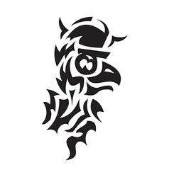 bird viking tattoo vector image vector image