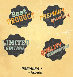 black retro labels vector image