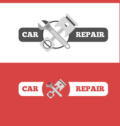 car repair service branding vector image