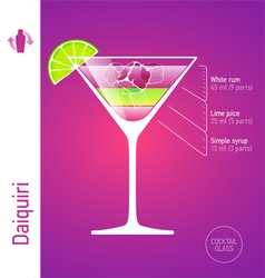 Daiquiri cocktail vector image vector image