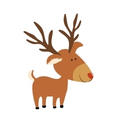 Deer cartoon icon image vector