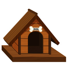 doghouse made of wood vector image vector image