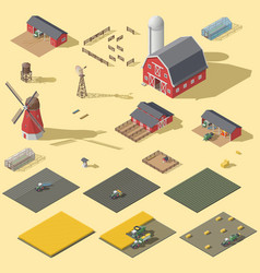 Elements of the infographic of the agrarian vector