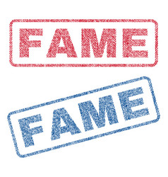 Fame textile stamps vector