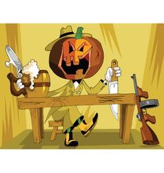 halloween detective vector image vector image